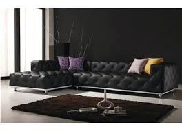 modern living room furniture black. contemporary black leather sofa off white living room set tufted sectional modern furniture
