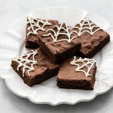 spider web halloween brownies creme
