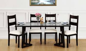 glass top dining table seater italian design wooden warm cedar designs with six chairs patio bench