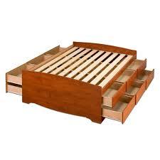 Prepac Bedroom Furniture Shop Prepac Furniture Captains Cherry Queen Platform Bed With