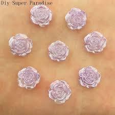 Hot <b>80PCS</b> 12mm <b>Resin</b> Flower Flatback Stone Embellishment DIY ...
