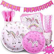 TRENDY BRANDY Children's Unicorn Party Supply ... - Amazon.com