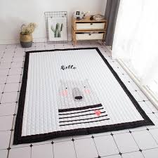 nordic infant cartoon baby play mats thicking cotton carpet living room children bedroom rugs eco friendly