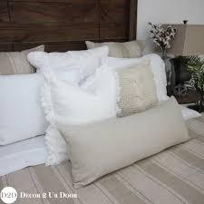tan white farmhouse stripe custom designer duvet cover