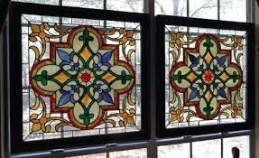 stained glass window hangings also suction cups for hanging antique panels small decorating tr