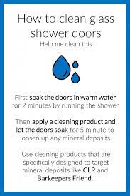 clean glass shower doors