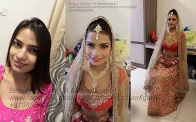 hd airbrush bridal makeover after lawan red golden lehnga bride rinni makeup artist z brar at una h p