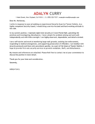 Leading Professional Security Guard Cover Letter Examples