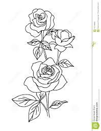 татуировка розы года сбора винограда иллюстрация вектора цветка