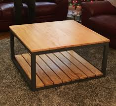 ana white modified industrial style coffee table w bottom shelf diy projects