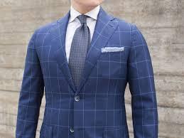 Light Blue Windowpane Suit Dark Blue Windowpane Suit