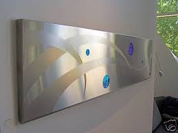 modern abstract art metal large glass