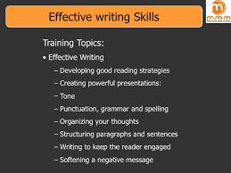 Writing Skills Effective Writing Skills