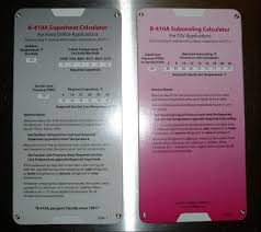 R22 Superheat Slide Chart R 410a Superheat Subcooling Calculator Charging Chart N On