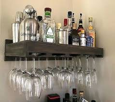 bar glass holder india over holders ikea wine rack wall mounted hanging rustic wooden display bathrooms