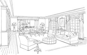 Sketches Drawings J D Petersen LLC Interior Design Beauteous Drawing Interior Design