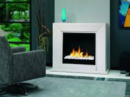 Place this freestanding bio ethanol fireplace surround against any wall.  Add ceramic log, rock or glass pebbles for a contemporary look.