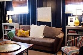how to paint wood paneling for a eclectic living room with a painted paneling and eclectic