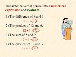 8 translate the verbal phrase into