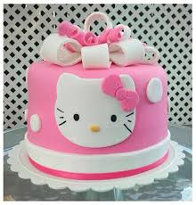 Clean And Simple Hello Kitty Cake Broadwaybakerycom 39415