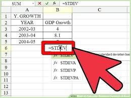 standard deviation equation excel standard deviation excel graphic