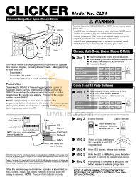 clicker garage door keypad instructionsClicker Garage Door Instructions  Wageuzi