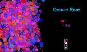 Confetti Brush Photoshop Confetti Photoshop Brushes Free Download