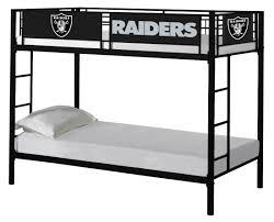 Nfl Bedroom Furniture Nfl Oakland Raiders Bunk Bed