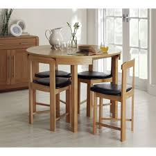 hygena alena circular dining table and 4 chairs solid oak at argos co