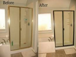 Bathroom mirror replacement, painting metal shower door frame ...