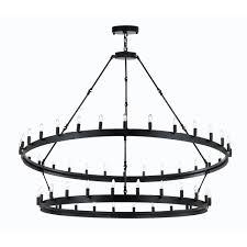 rustic lighting chandeliers. Wrought Iron Vintage Barn Metal Camino Two Tier Chandelier Chandeliers Industrial Loft Rustic Lighting W63\ D