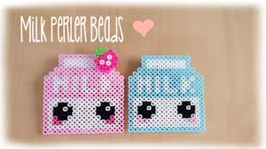 Perler Bead Pattern Simple Kawaii Milk Perler Bead Crafting Tutorial YouTube