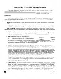 Lease Agreement Form Pdf Beauteous Free Lease Agreement Form New Jersey Standard Residential 48x48
