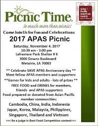 Asian Pacific American Society 2017 Apas Picnic