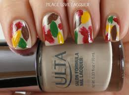 Peace Love Lacquer: Thanksgiving Nail Art Challenge Day 1 - Leaves