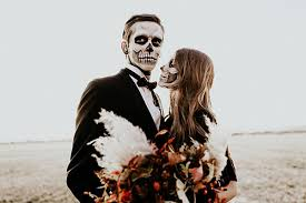 skeleton makeup utah valley bride