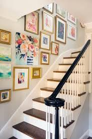 staircase wall art gallery on transitional style wall art with staircase wall art gallery transitional entrance foyer