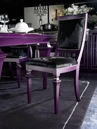 purple dining room chairs and table