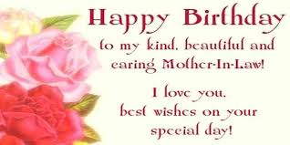 Happy Birthday Wishes For Mother In Law Quote Text Message Custom Loving Mother In Law Quotes