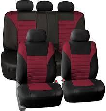 fh group fb068purple115 purple universal car seat cover premium 3d air mesh design airbag and rear split bench compatible fb068burdy115
