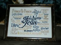 Free Cross Stitch Design Designs Including His Name Is Jesus