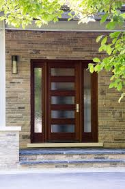 glass door wood door wood front door