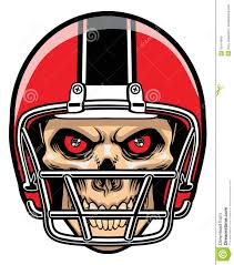 cool skull and football clipart 1