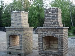 brick outdoor fireplace kits ideas