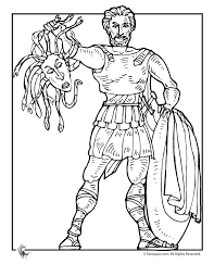 Small Picture Fantasy Jr Greek Myths Coloring Page Perseus Memoria Press