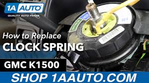 All Chevy 97 chevy k1500 parts : How to Replace Install Airbag Clock Spring 95-97 GMC Sierra K1500 ...