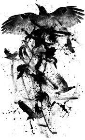 пин от пользователя барdak на доске эскизы искусство тату ворон