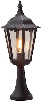 Konstsmide Lights Amazon Konstsmide 7214 750 Firenze Post Outdoor Light 1 X 100 W E27 Max Bollard Clear Glass Aluminium Ip43 Outside Light Matt Black