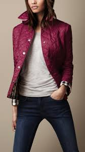 Burberry Diamond Quilted Jacket in Purple | Lyst & Gallery Adamdwight.com