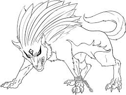Wolf Coloring Pages To Print Evil Wolf Coloring Page Realistic Wolf